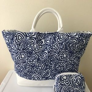 Pratesi Beach Bag & Matching Pouch NWOT